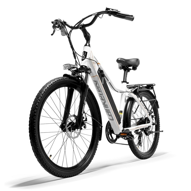 """EU Quality LANKELEISI 26"""" City Bike with PAS Electric Bicycle with 36V 18AH L G Lithium Battery 3"""