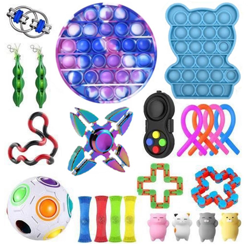 Fidget Toys Anti Stress Toy 20/21/22PCS Pack Sensory Toy Set Antistress Relief Autism