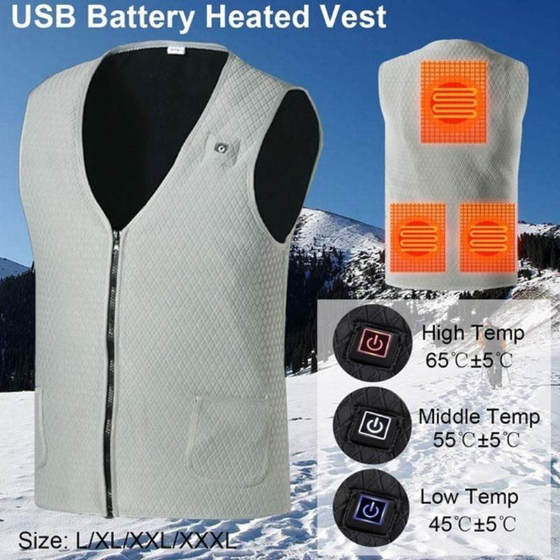 Electric Vest Heated Winter Physiotherapy 2018 Heated Pad Clothing Hot Body Warmer Jacket Heated USB Thermal Warm
