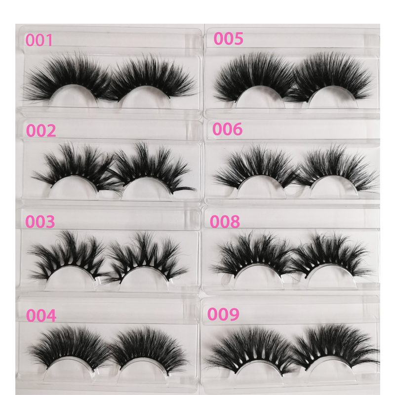Clearance SaleWholesale 25mm Label Packing Makeup Mink-Eyelashes In-Tray Dramatic 5D 30/50/100/200pairs