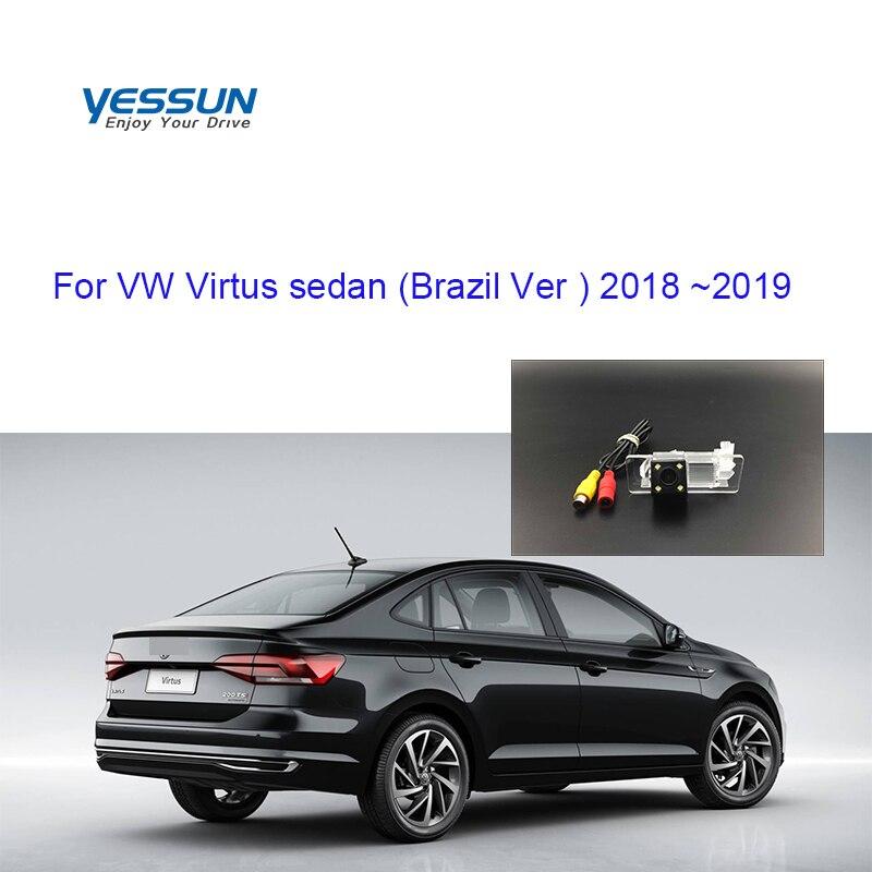 Yessun License Plate Camera For Volkswagen Virtus Sedan Brazil Ver 2018 ~2019 Car Rear View Camera Parking Assistance