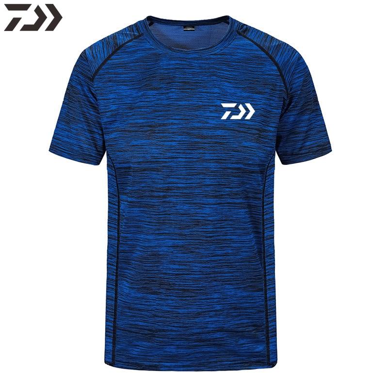 2020 verão daiwa pesca camisa respirável secagem