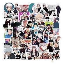 10/50pcs/Set Anime Jujutsu Kaisen Sticker Sorcery DIY Stickers Waterproof Decals Skateboard Sticker For Laptop Suitcase