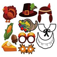 Реквизит для фотосессии на День Благодарения на осень, вечерние украшения на День Благодарения X4YD