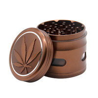 RICH DOG Aluminum Herb Grinder With Window 63MM 4 Piece CNC Teeth Metal Smoking Tobacco Grinder Suit Smoke Pipe Accessories