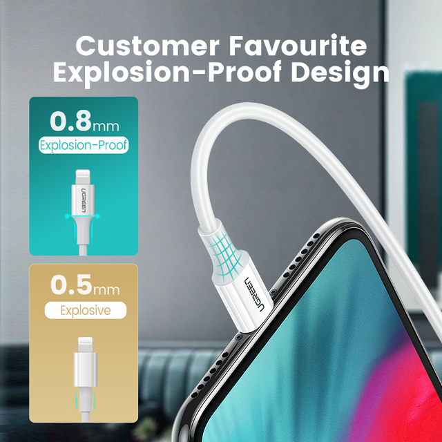 Ugreen MFi USB Type C to Lightning Cable for iPhone 12 Mini Pro Max 8 PD 18W 20W Fast USB C Charging Data Cable for Macbook Pro 3