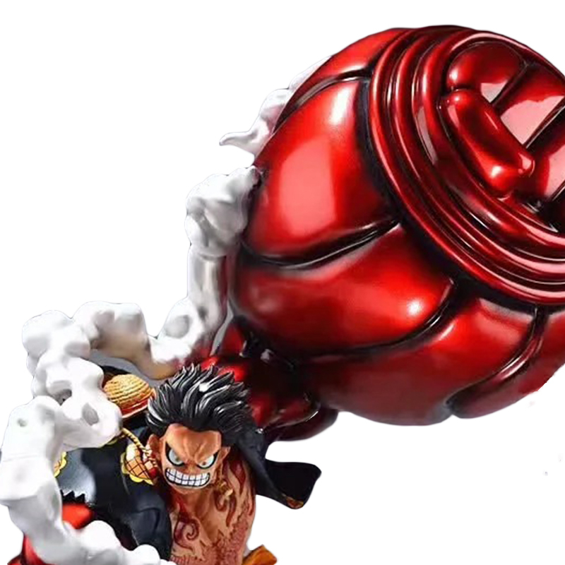 One Piece GK Monkey D Luffy Gear 4 OverSize 50cm Pvc Anime Action Figure Model