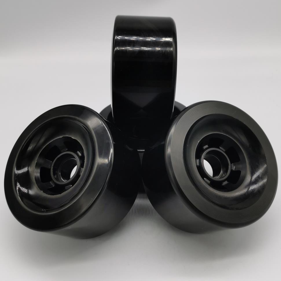 OEM Longboard Black And Red Wheels Pu Skateboard Wheel Skateboard Wheels 97*52mm, SHR-78AA, 80% Rebound 97mm