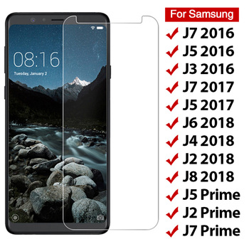 9H Tempered Glass for Samsung Galaxy J3 J5 J7 2017 J2 Prime Screen Protector For Samsung J4 J6 J8 2018 Phone Protective Film image