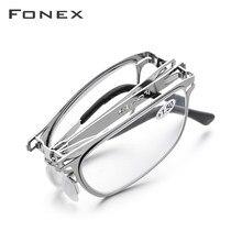 FONEX-gafas de lectura plegables para hombres y mujeres, lentes de lectura plegables de alta calidad para presbicia, hipermetropía, gafas de dioptrías sin tornillo, LH012