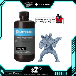 ANYCUBIC 500g/1kg Liquid Photopolymer Resin 405nm UV Resin For LCD 3D Printer Printing Material For Photon/Photon S/Photon Mono