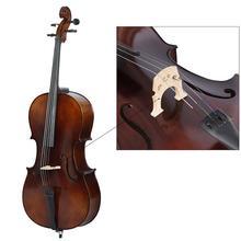 Cello parts Maple Wood 44 cello bridge wood grain Sturdy and Easy to Install