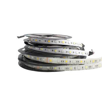 Listwy RGB LED światła 12 V 5050 5630 2835 5M elastyczny 60 diod Led M 300LED lampa listwy RGB LED światła 12 V wodoodporna taśma taśma z diodami tanie i dobre opinie ZUCZUG Salon 50000hours Zawsze na Taśmy 5 76 w m Epistar Warm White (2700-3500K) White(6000K-6500K) Smd5050 ROHS 5050 5630 2835 Led Strip