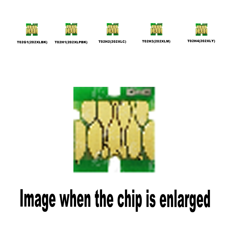 5pack 1B+1PBK+1C+1M+1Y <font><b>202XL</b></font> for Epson Compatible ink cartridge disposable chip XP-6000 6005 6001 6100 image