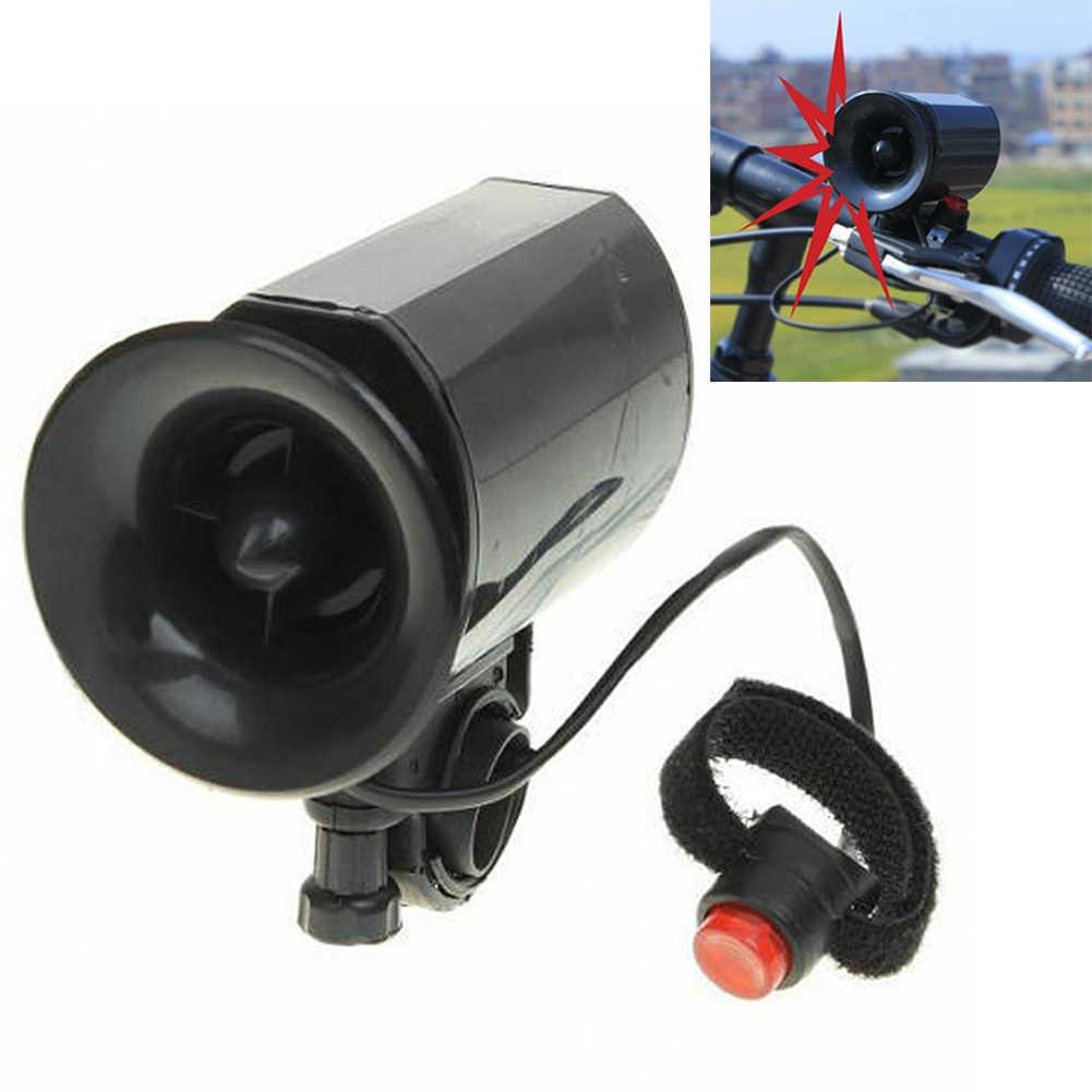G5R5 Ultra-loud Speaker Black Electronic Bicycle 6 Sounds Siren Bike Bell Gift