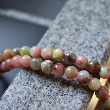 """16"""" Full strand 6mm 8mm 10mm Stone beads Charm Beads Brown and Green Color for jewelry making"""