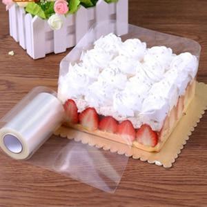 Image 2 - 1 ロールケーキフィルム透明ケーキ襟キッチンアセテートケーキチョコレートキャンディベーキングツール耐久性のある 8 センチメートル * 10m/10 センチメートル * 10 メートル