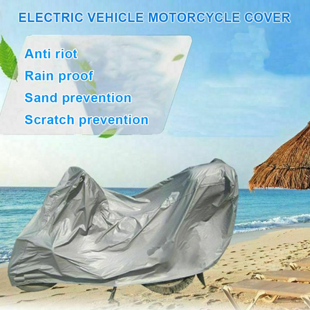 Motorcycle Waterproof Cover Full Protective Anti UV Waterproof Dustproof Breathable Hood Foldable Motor Scooters Covers