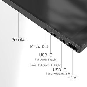 Image 4 - 13.3 אינץ 4K HDR10 HDMI סוג c מגע צג עבור טלפון חכם מתג PS4 NS מחשב נייד IPS OGS מגע מסך עם רמקול VESA