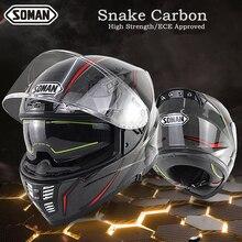 Ece Helmet Carbon Fiber Fullface Motorcycle Helmet