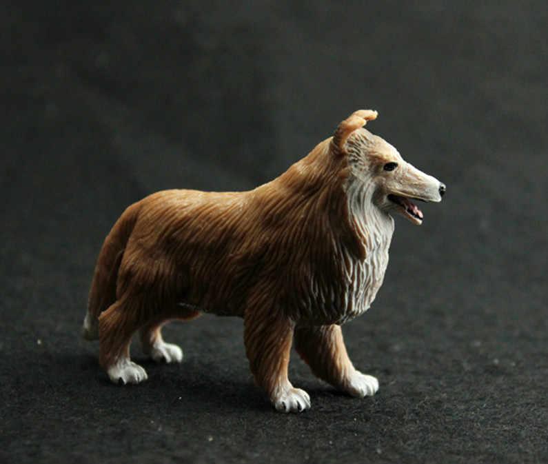 1 Uds Mini Animal PVC colección de figuras de acción Mini perros regalos modelo manualidades niños rompecabezas educativo juguete decoraciones para el hogar