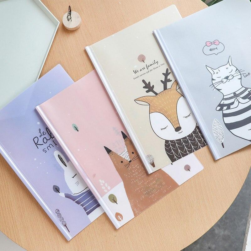 1pcs A4 Transparent Document Holder Student Insert File Bag Spine Bars Storage File Folder Binder Office Korea Stationery