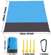 Large Beach Towels Mat Anti Sand-free Beach Anti Sand Beach Blanket Oversized Pocket Picnic 4 Anchor Wind Prevent Sand Proof