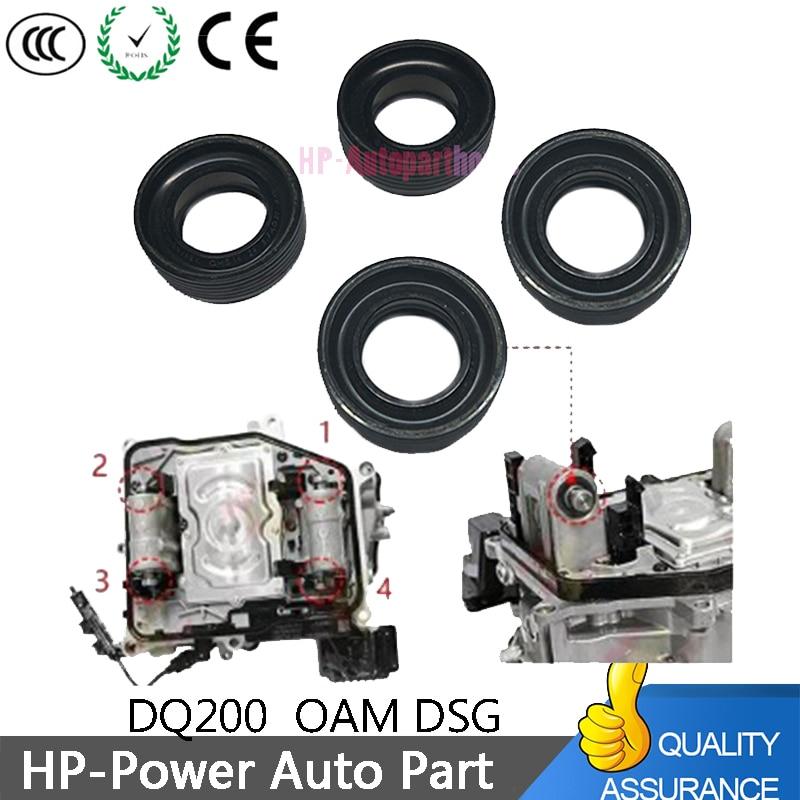 4pcs dq200 dsg 0 am 0 am dq200 변속기 밸브 본체 용 7 단 신형 푸셔로드 오일씰
