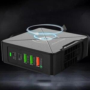Image 2 - 75 واط PD نوع C 3 USB شاحن سريع الذكية 100 240 فولت 45 واط الاستقرائي شحن محمول محول الطاقة آيفون