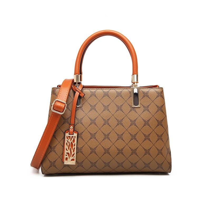 Female Bag Genuine Leather European Fashion Women 2020 New Middle Aged Handbag Leather Bag Mother One Shoulder Messenger Bag