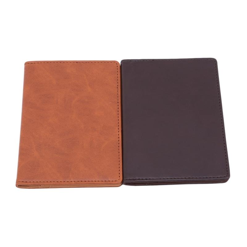 Auto Driver License Bag Passport Card Case Sheath Car Driving Documents Protective Covers Passport Holder PU Checkbook No Zipper