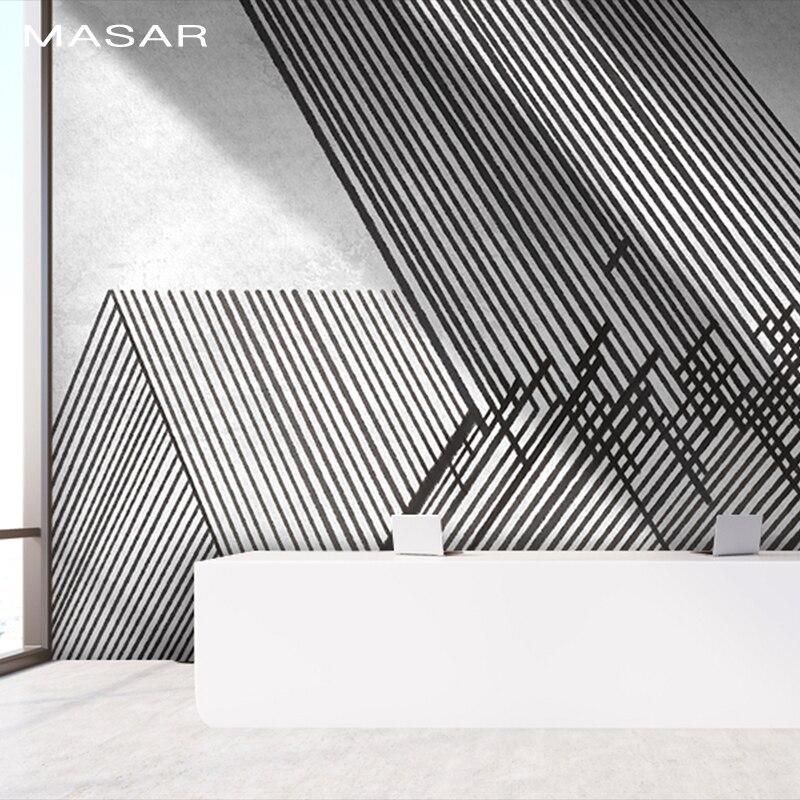 Ligne MASAR entrelacement simple mural chambre salon cuisine fond papier peint mural etanche surface adhésive