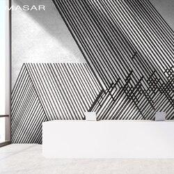MASAR линии переплетения простой фреска спальня гостиная кухня фон Настенные обои водонепроницаемый клейкая поверхность