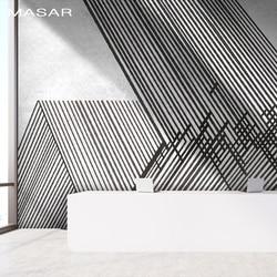MASAR Lijn interlacing eenvoudige muurschildering slaapkamer woonkamer keuken achtergrond muur behang waterdichte lijm oppervlak