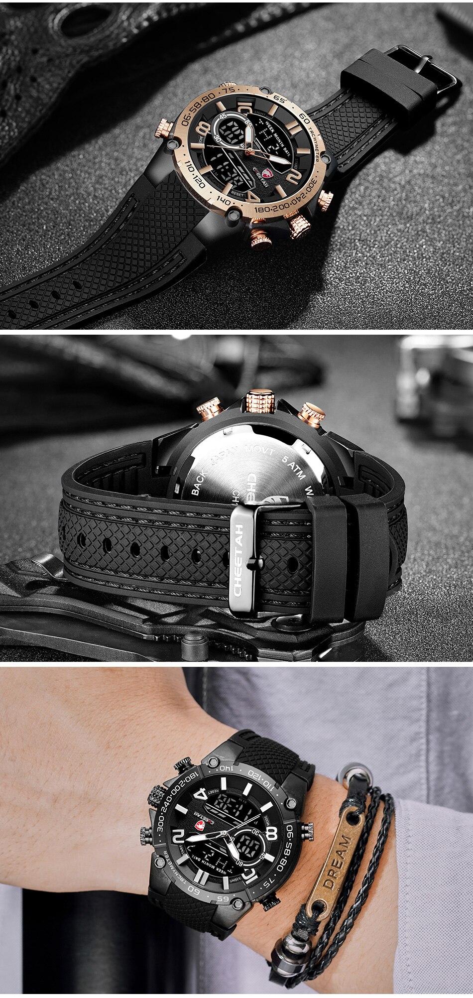 H89ff40064d044d55a480be2c1a8e3ec4E Top Luxury Brand CHEETAH Men Watch Fashion Sports Wristwatch Digital Quartz Analog Clock Waterproof Watch Men Relogio Masculino