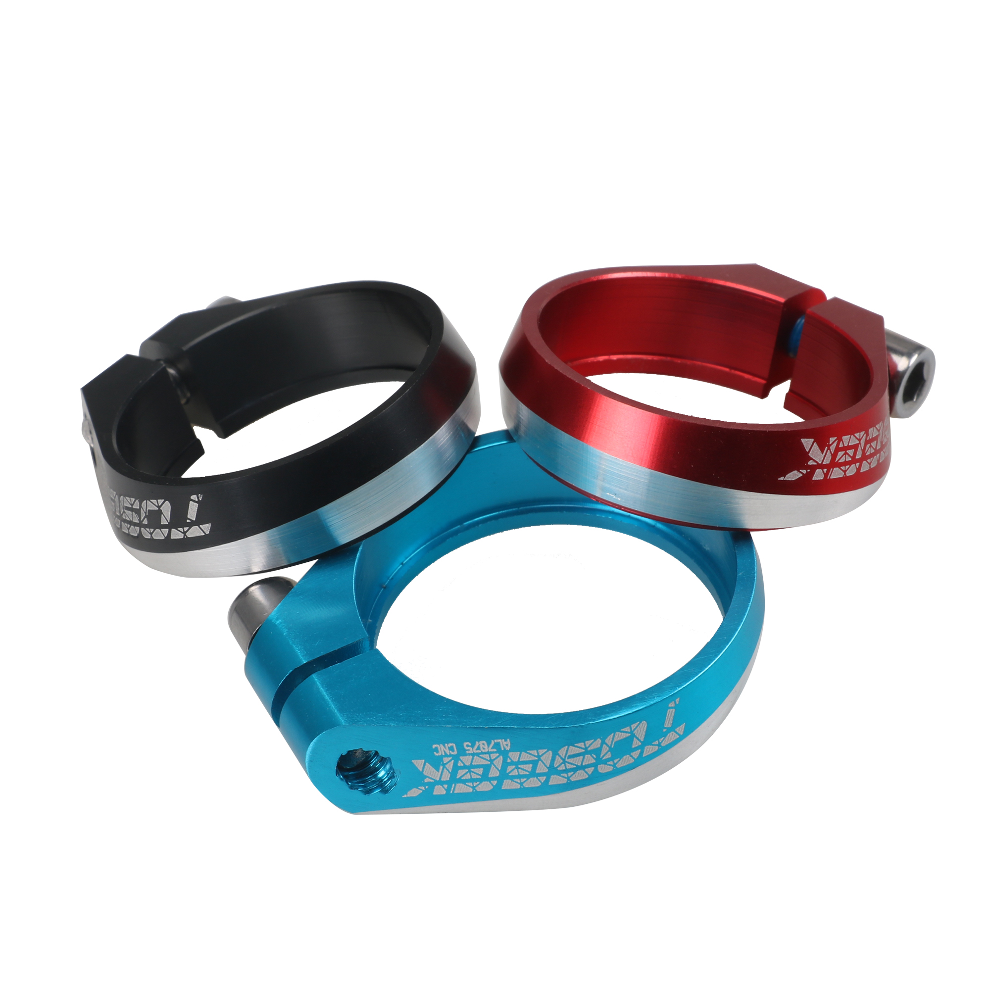 34.9 mm Red MTB Bike Cycling Road Saddle Bicycle Seat Post Clamp Aluminum