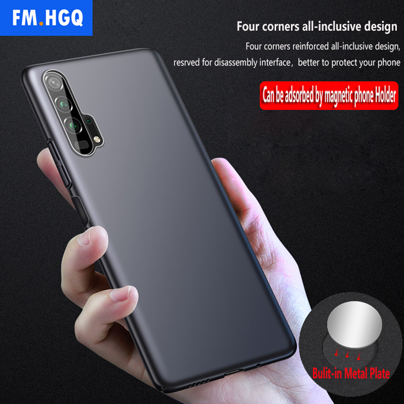Magnetic Car Holder <font><b>Case</b></font> For Huawei <font><b>Honor</b></font> 20 Pro Hard PC Cover for Huawei <font><b>Honor</b></font> <font><b>20i</b></font> 20 lite Ultra-thin Breathable Scrub <font><b>Case</b></font> image