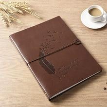 VEESUN Notebook A4, A5 Mini planificador Retro cuero diario espiral bloc de dibujo Bloc de notas escuela regalo de oficina estacionario pluma