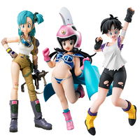 Anime Dragon Ball Chichi Bulma Mega House Videl Childhood and Childhood Action Toy Figures Christmas Gift Legal Copy