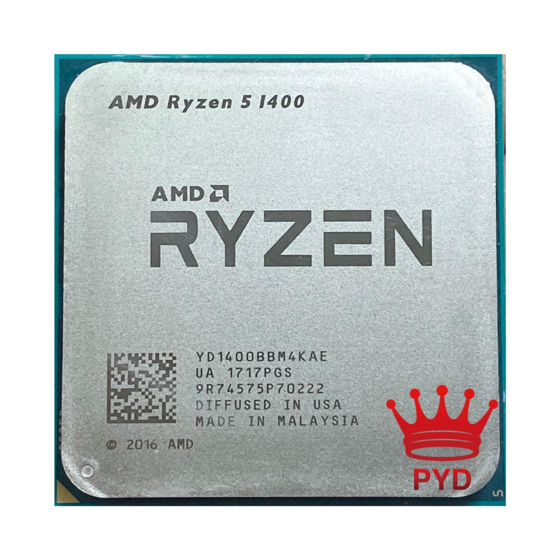 AMD Ryzen 5 1400 R5 1400 3.2 GHz, processeur Quad Core, prise AM4