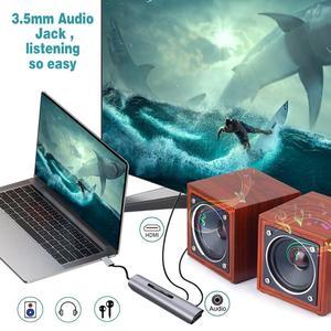 Image 5 - GOOJODOQ 9 Ports USB C HUB to HDMI VGA RJ45 Gigabit Ethernet Power Adapter Dock PD Charger for MacBook Pro Air Multi Type C HUB