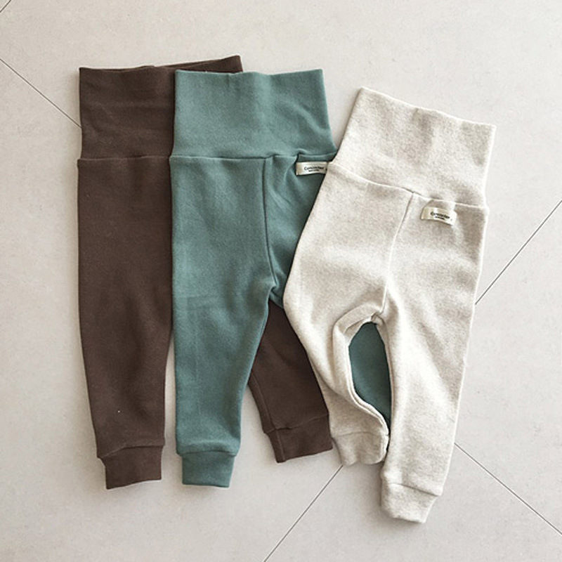 MILANCEL Baby Clothies High Waist Baby Leggings Solid Leggings For Girls Boys Clothing