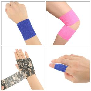 2.5cm*4.5m Bandage First Aid Kit Medical Health Care Treatment Self-Adhesive Elastic Bandage Muscle Tape Finger Joints Wrap