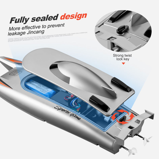 30 KM H RC Boat 2 4 Ghz High Speed Racing Speedboat Remote Control Ship Water