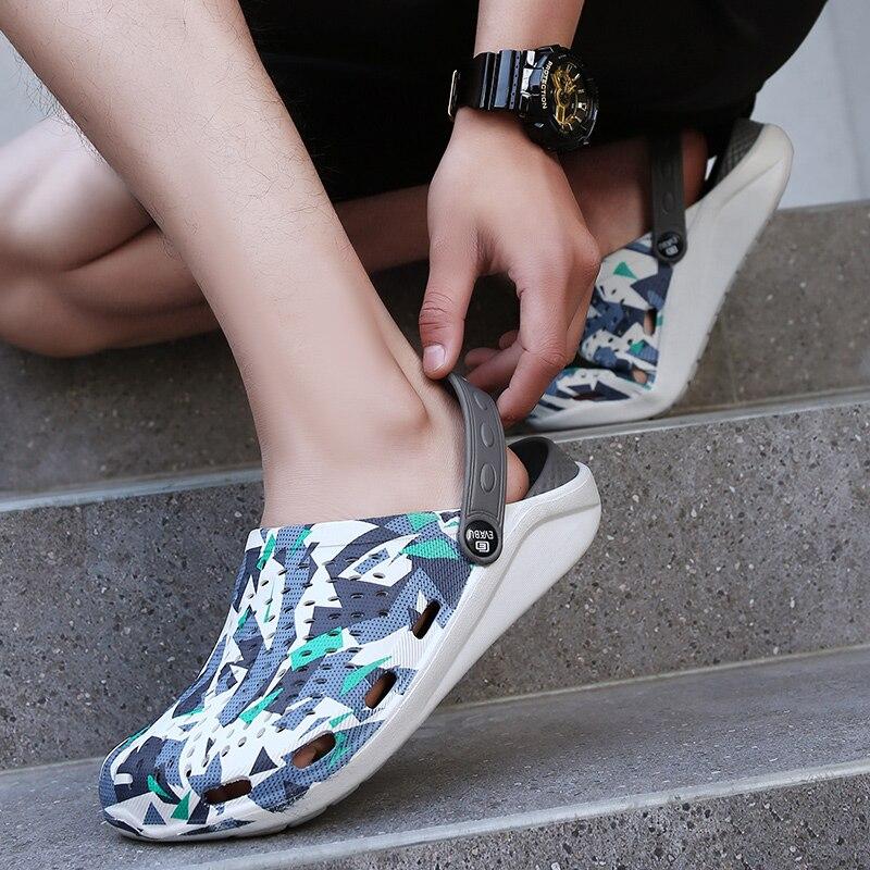 男性の夏の穴の靴サンダル通気性カジュアル屋外ノンスリップビーチスリッパファッションライトトレンド光ウォーキングシューズ crocse