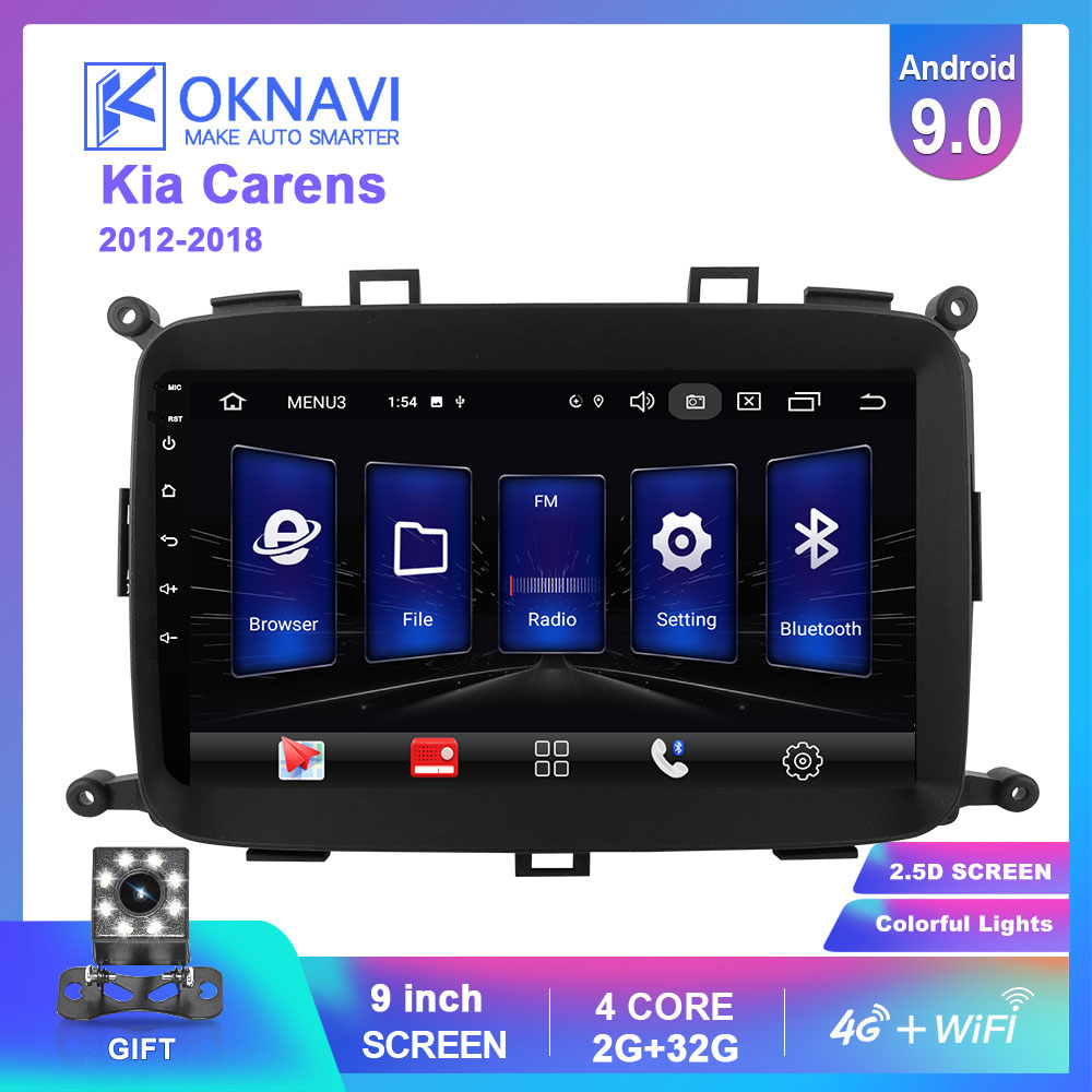 OKNAVI <font><b>2</b></font> <font><b>Din</b></font> <font><b>Android</b></font> 9.0 Car <font><b>Radio</b></font> Multimedia Player For KIA Carens 2013 - 2018 Stero Navigation <font><b>GPS</b></font> Support 4G WIFI Bluetooth image