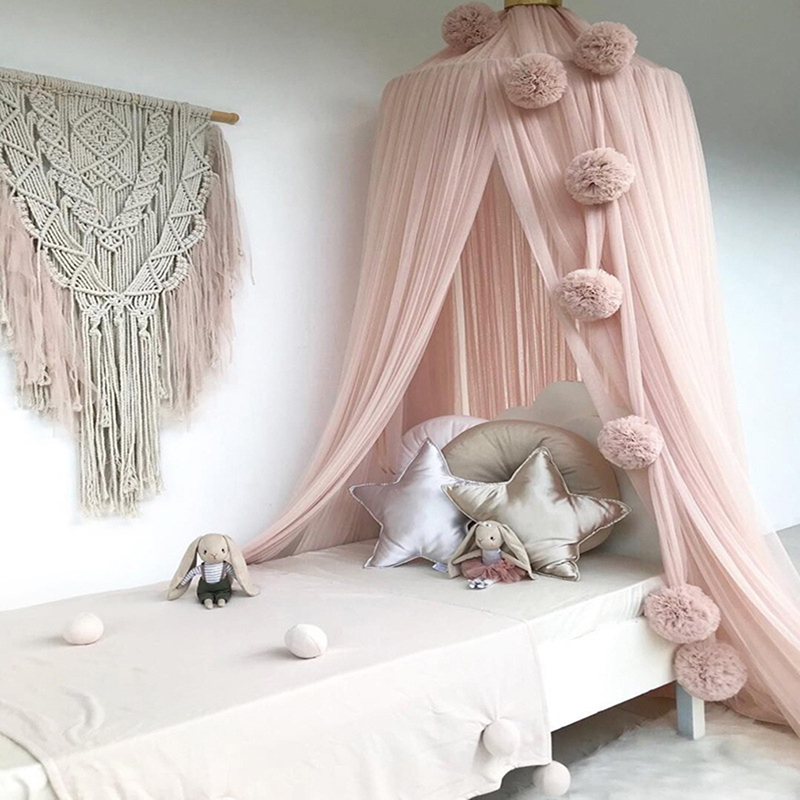 Baby Room Decoration Garland Ball Garland Bunting For Wedding Children's Mosquito Chiffon Ball Pendant Baby Bedding Accessories
