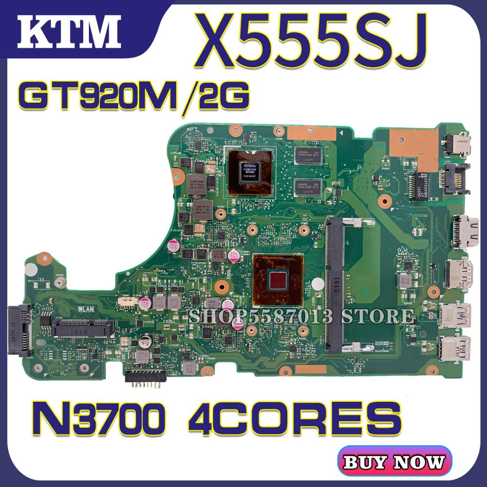X555S for ASUS X555SJ K555SJ K555S laptop motherboard X555S mainboard test OK N3700 cpu 4Cores