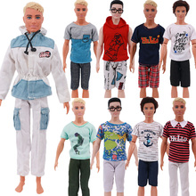 Prince Ken Doll Clothes Fashion Suit Cool Outfit Ken Dolls For Barbies Boy Children's Holiday Gift Barbies Accessories Boyfriend