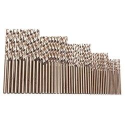 HOT-50Pcs Drillforce Tools M35 juego de brocas de cobalto, juego de brocas hss-co de 1-3 Mm, para perforar en acero endurecido, hierro fundido y acero inoxidable